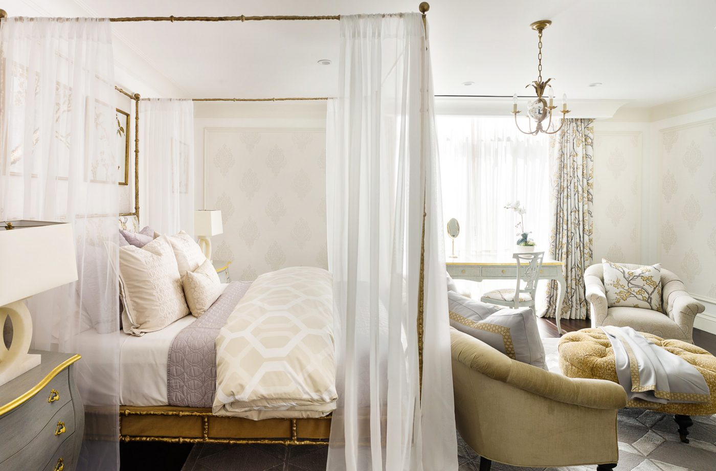French Inspired Bedroom & Bath - Tara Dudley Interiors | Las ...