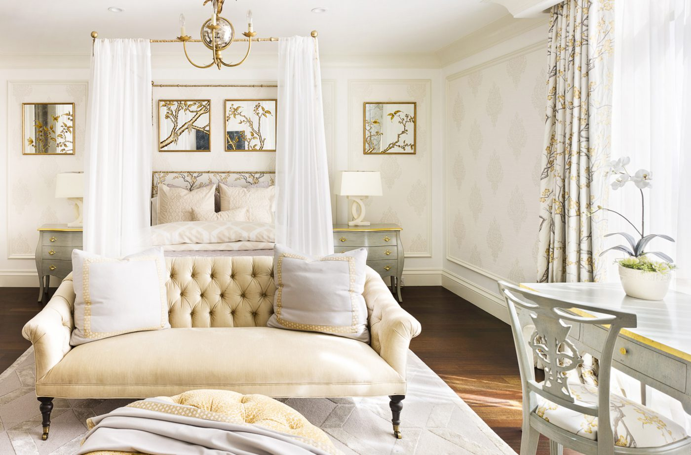 French Inspired Bedroom Bath Tara Dudley Interiors Las Vegas