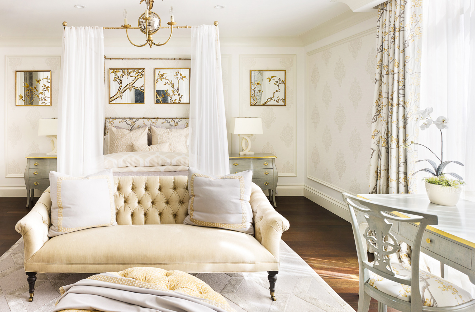 French Inspired Bedroom & Bath Tara Dudley Interiors