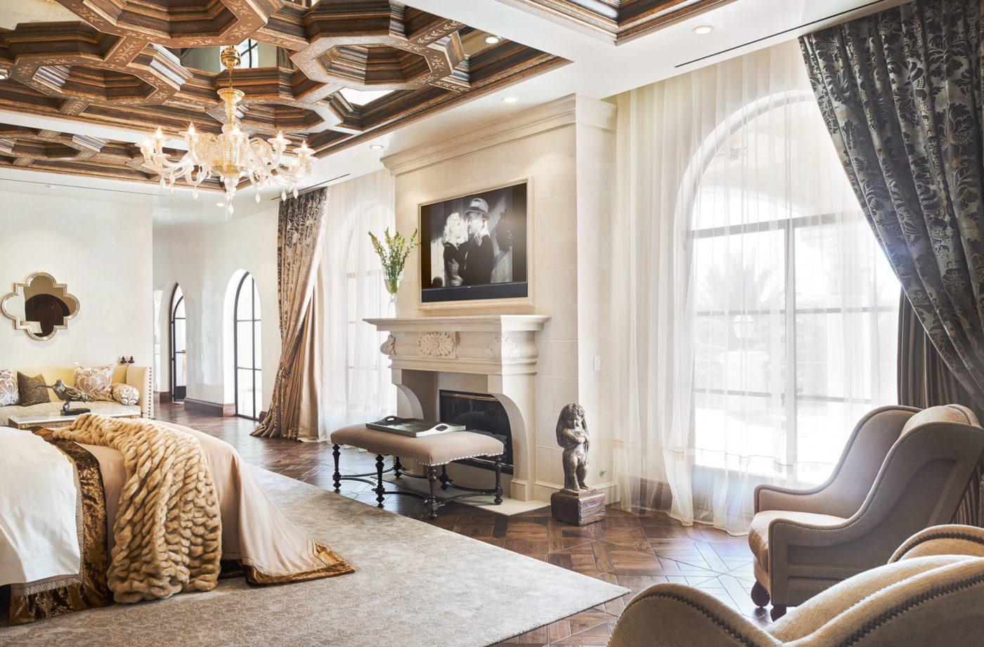 renaissance revival master suite   tara dudley interiors